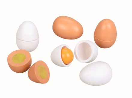 Mamamemo Play Food - Wooden Eggs